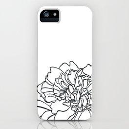 Paper-cut Peony iPhone Case