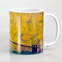 brooklyn bridge Mugs featuring Brooklyn Bridge by KINGCHANCE