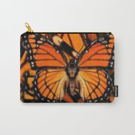 ORANGE MONARCH BUTTERFLY PATTERNED ARTWORK Carry-All Pouch