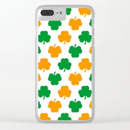 Irish Shamrocks Clear iPhone Case