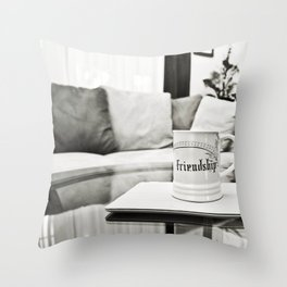 Friendship mug Throw Pillow