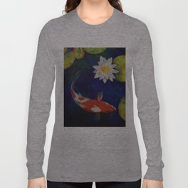 Kohaku Koi and Water Lily Long Sleeve T-shirt