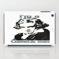 beethoven iPad Cases featuring Beethoven by Stitched up designs
