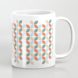 Earth Colours in Classic Flower Shapes Coffee Mug