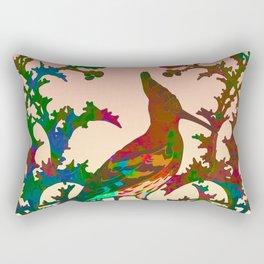 Color hoopoe Rectangular Pillow
