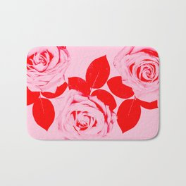Pretty In Pink (Red) Bath Mat