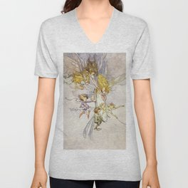 """The Magic Mirror"" by Duncan Carse Unisex V-Neck"