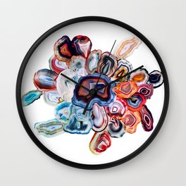 Earth's Loveliness, Agate Collection Wall Clock