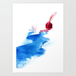 The drama of causality Art Print