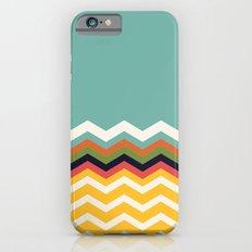 Retro Chevrons (blue and yellow) iPhone 6s Slim Case