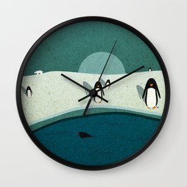The Icy Wild Wall Clock
