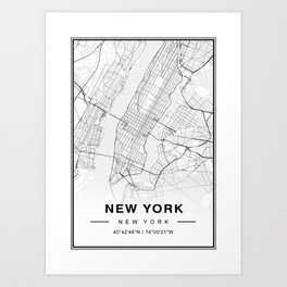 1e1bb5e76c8 Nyc Map Art Prints