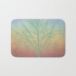 Green grunge tree Bath Mat