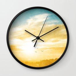 Breaking over the horizon Wall Clock