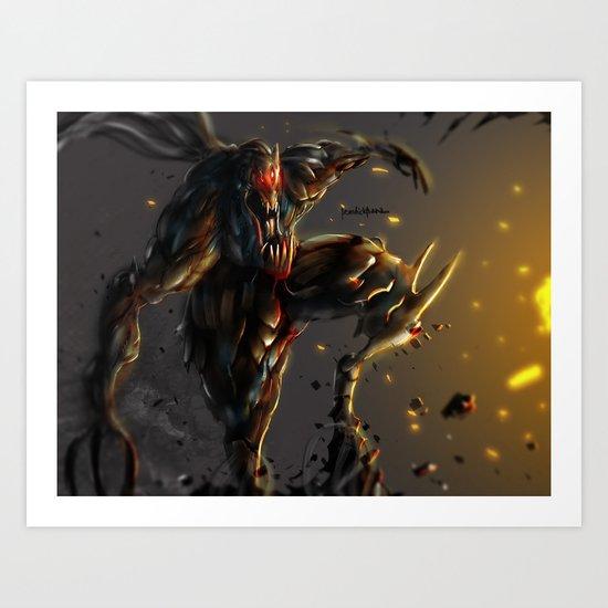 Wrath killer Art Print
