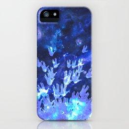 H.E.L.L.O. / blue iPhone Case