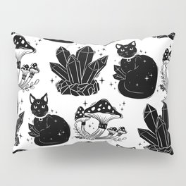 magic cat pattern, witch cat pattern, halloween cat pattern Pillow Sham