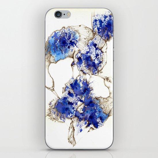 Oiseaux Bleu iPhone & iPod Skin