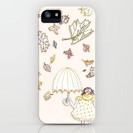 Raining Leaves iPhone Case