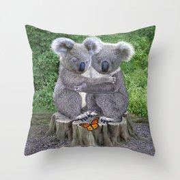 Baby Koala Huggies Throw Pillow