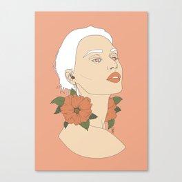 Hollyhock Canvas Print