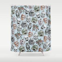 Epic Creatures (blue) Shower Curtain