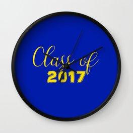 Class of 2017 - Blue Yellow Wall Clock