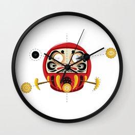 Mecha Daruma Wall Clock