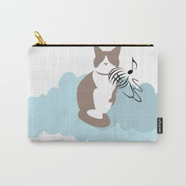 Cat cloud singing . Joy in the clouds collection Carry-All Pouch
