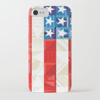 america iPhone & iPod Cases featuring America by Fimbis