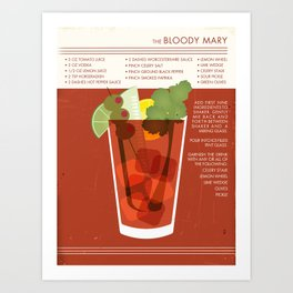 Bloody Mary Cocktail Art Art Print