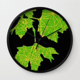 Platanus tree in Paris Wall Clock