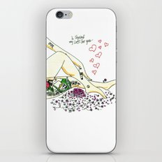 I shaved my legs for you... iPhone & iPod Skin