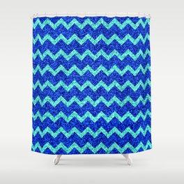 Chevron Glitter Pattern 06 Shower Curtain