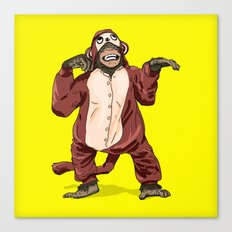 Monkey Onesie Canvas Print