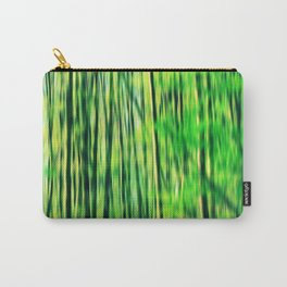Abstract blurry forest Carry-All Pouch