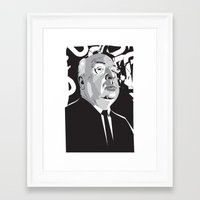 hitchcock Framed Art Prints featuring Hitchcock by Matt Fontaine
