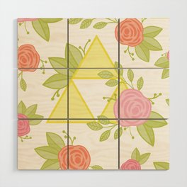 Garden of Power, Wisdom, and Courage Pattern Wood Wall Art