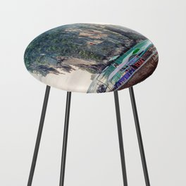 Boat in the sea Counter Stool