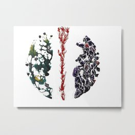 Elemental Flux Takes The Path Of Least resistance Metal Print