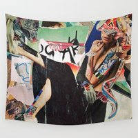 classy Wall Tapestries featuring Stay Classy by Katy Hirschfeld