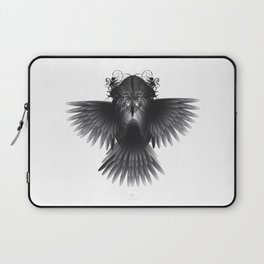 Strange Hummingbird 1.Black on white background. Laptop Sleeve