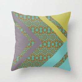 Patterned Retro Chevron Throw Pillow