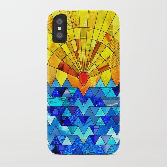 Sun & Sea Collage iPhone Case