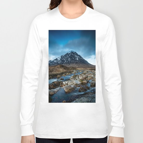 Mountain ice clouds blue Long Sleeve T-shirt