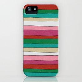 pattern funky stripes iPhone Case