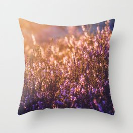 golden heather Throw Pillow