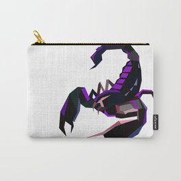 Scorpion geometric Animal  Zodiac sign Black and purple Carry-All Pouch