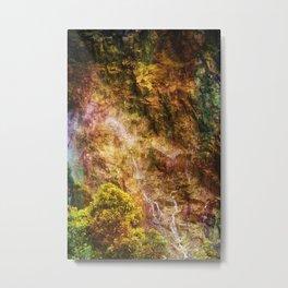 Moody waterfall Metal Print