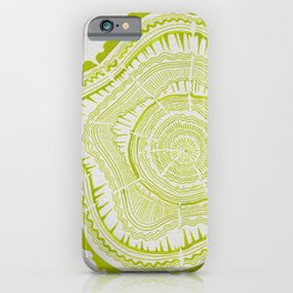 Lime Tree Rings iPhone Case